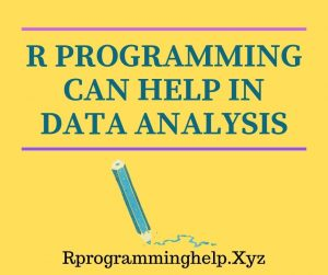 R programming can help in data analysis -min