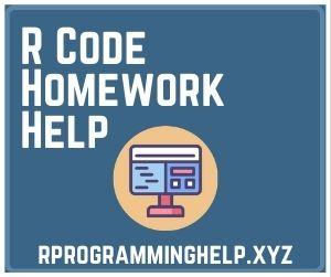 R Code Homework Help