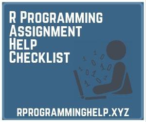 R Programming Assignment Help Checklist